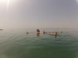 Lekker drijven in de dode zee!