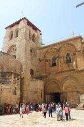 Gebouwd op Golgotha, waar Jezus gekruisigd is.