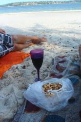 Cashew's, wijntje en strand